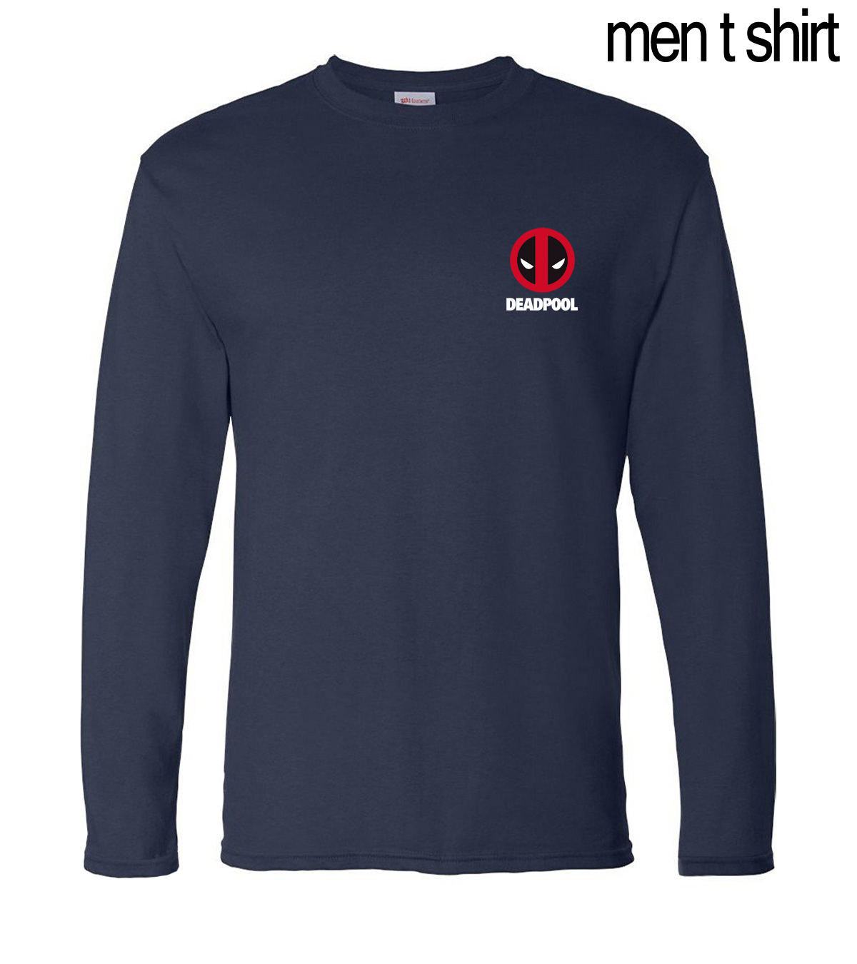 2019 Spring Summer Deadpool Long Sleeve Tee Shirts Men 100% Cotton High Quality Male T-Shirts For Fans Slim Fit Brand-Clothing