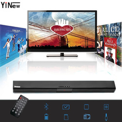 20W Sound Bar Bluetooth Soundbar Column Dual Subwoofers Speaker Home Theater Surround Sound System Hang Wall Built-in 3D Stereo