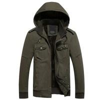 Winter New Style Warm Men's Jacket Thick Plus velvet Warm Men's cotton cold jackets Men Comfortable Hooded Coat Cap removable