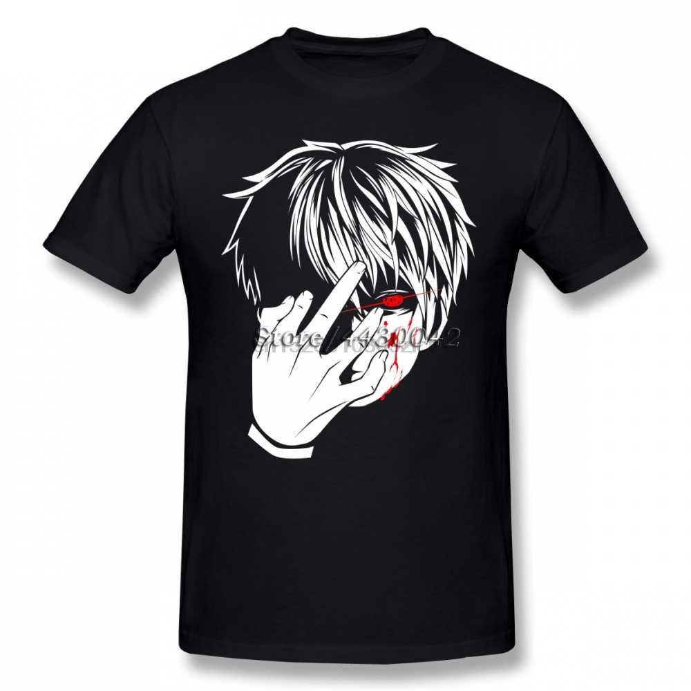 Ken Kaneki Tokyo Ghoul Anime T-shirt For Men Plus Size Cotton Team Tee Shirt 4XL 5XL 6XL Camiseta