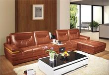 modern style  living room Genuine leather sofa a1308 popular modern black nappa genuine leather sofa set for living room
