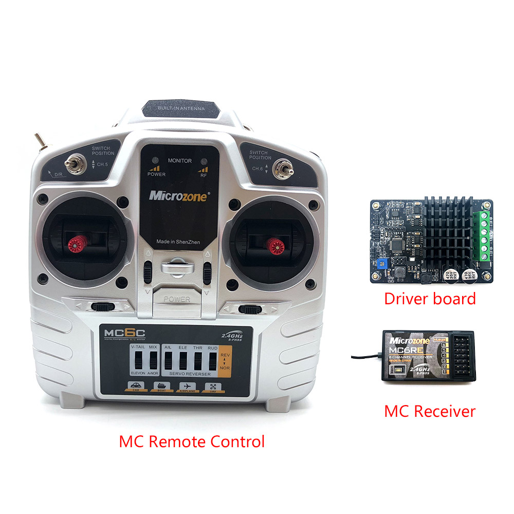 High Power DC Motor Drive Module MC6C 2 4G RC Controller For Tank Panzer model Speed