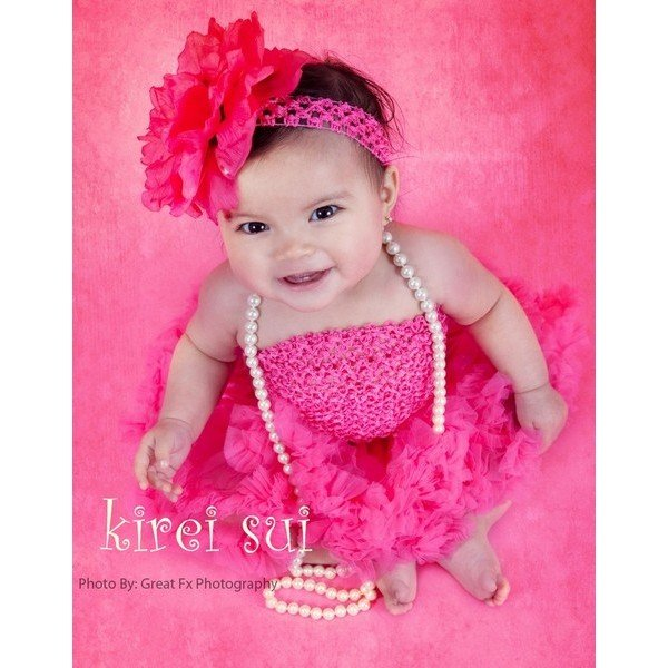 Set HOT PINK Newborn Baby Infant Girls Pettiskirt Tutu Skirt