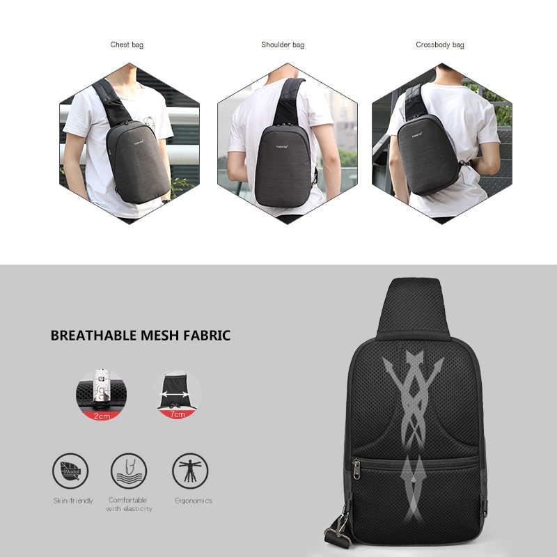 Tigernu Mode Mannen Mannelijke Zakken Toevallige Splashproof Sling Bag 9.7 Inch Crossbody Tassen Voor Vrouwen Messenger Zwarte Mannen Schoudertassen