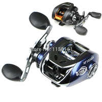 Baitcasting Fishing Reel 6.3:1 Left/Right Hand Aluminum Spinning lure Fishing Blue/Black Low Tackle fishing line