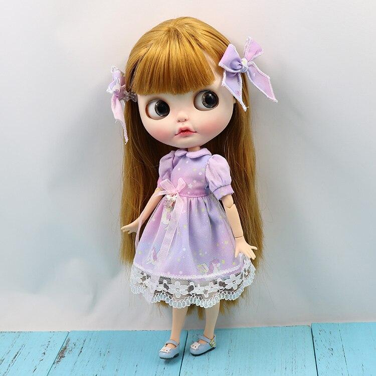 Neo Blythe Doll Unicom Lavender Dress 3