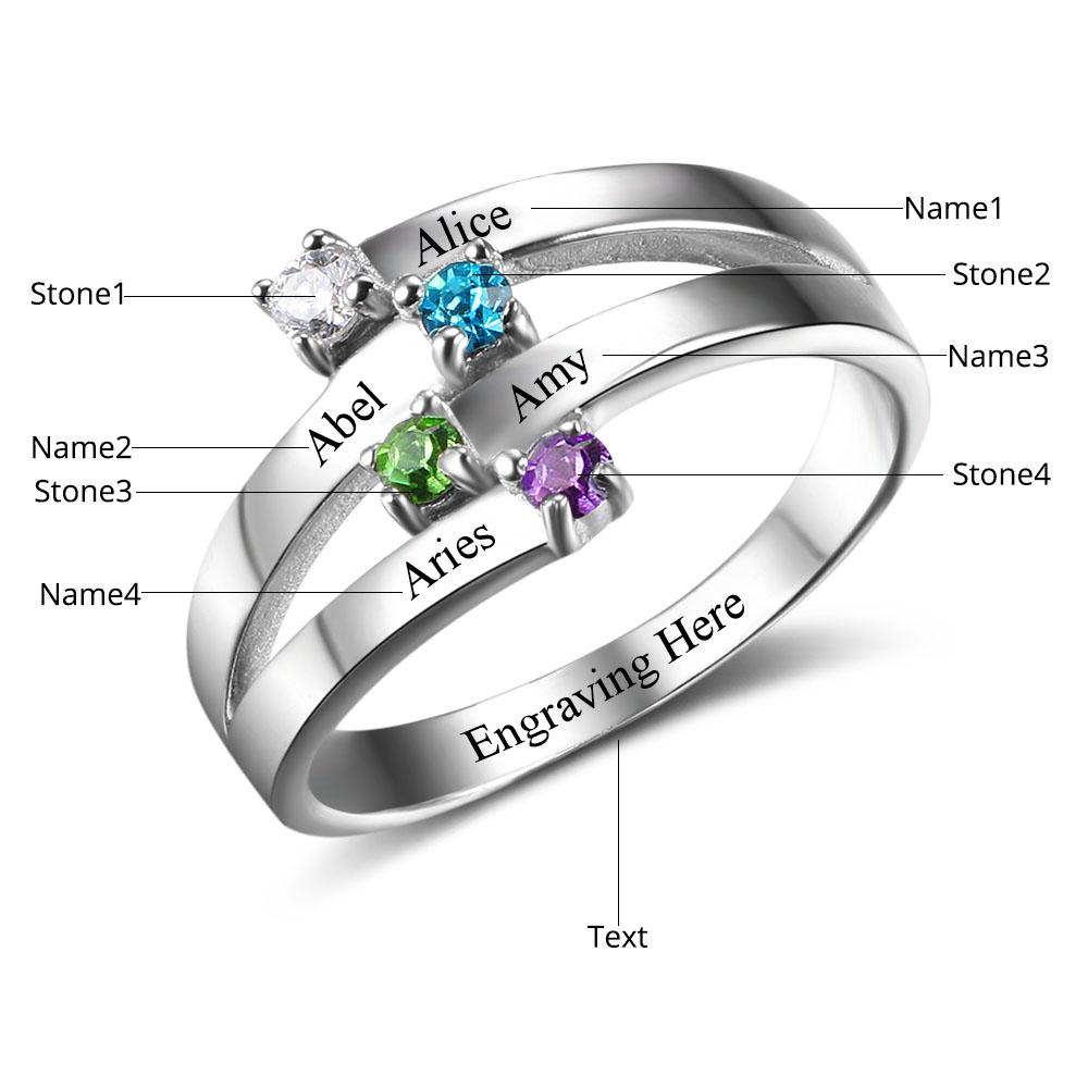 خاتم فضة الصداقة مع نقس الاسماء على الخاتم 3