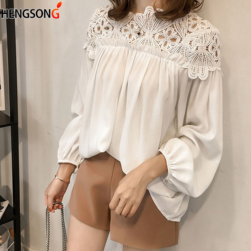 Women's Clothing New Women Loose O Neck Tops Ladies Mesh Stitching Casual Holiday Blouse Shirt Female Blusas Tunic Shirts Tops
