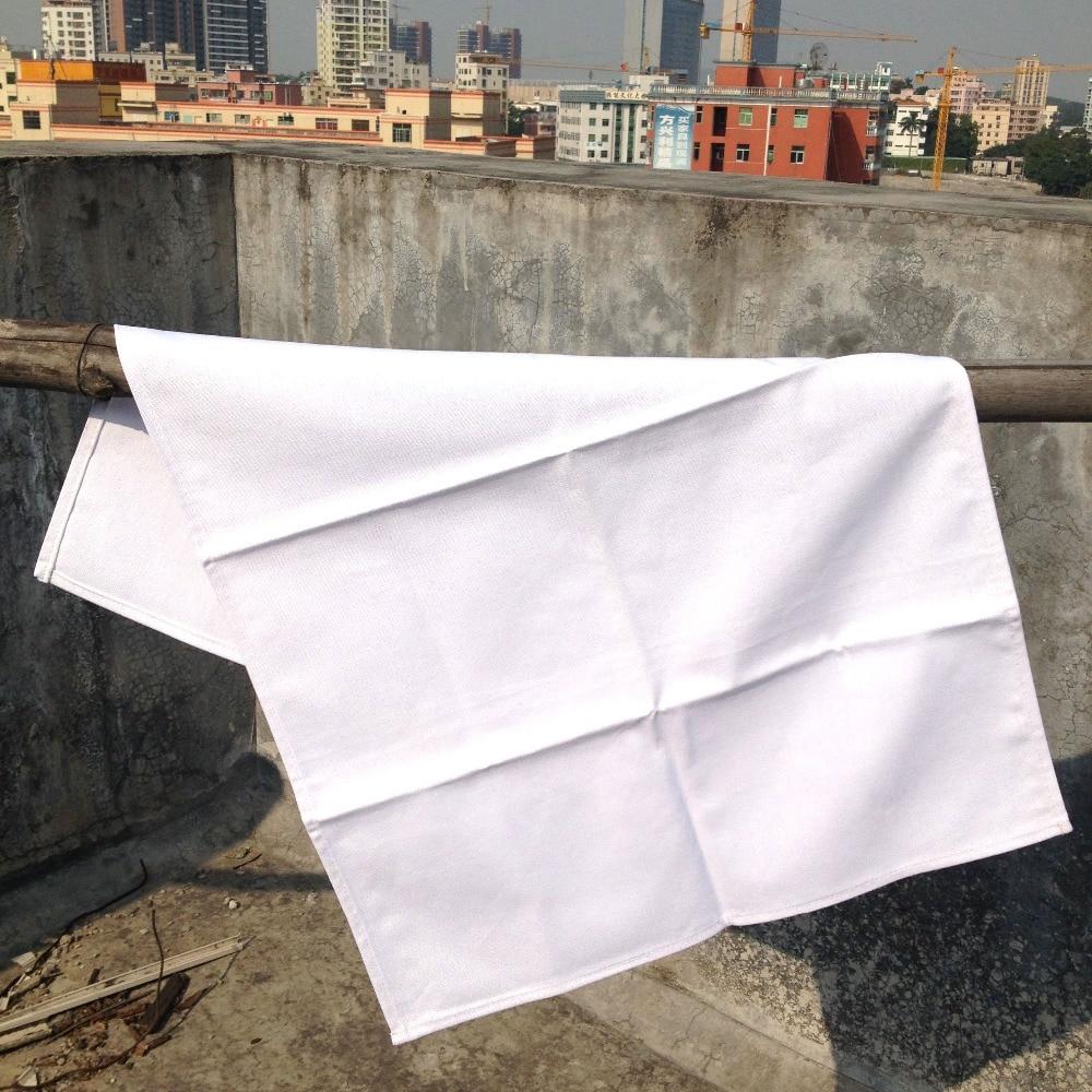 100pcs/lot) plain white color pure cotton tea towel blank ...