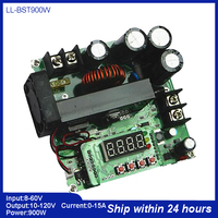 Top 120V 15A CNC Boost Module Constant Current Power Supply 900W Voltage Ammeter Charger Boost Converter