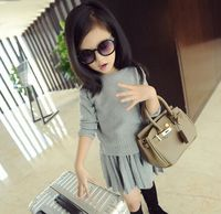 Wholesale 5pcs Lot 2015 Autumn Winter New High End Large Pure Virgin Knitting Sweater And Pleated