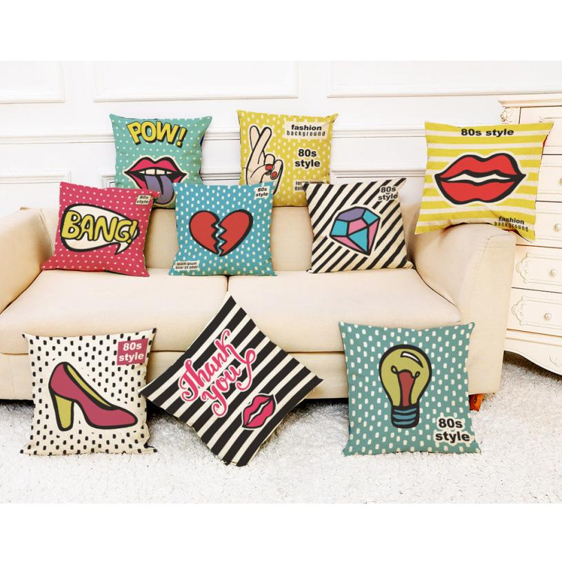 Home Decor Cushion Cover Cotton Linen Happy Sunmer Time Throw Pillow Covers Decorative Pillowcase for Sofa Cojines 45x45cm
