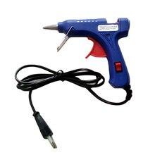 20 Вт штепсельная вилка ЕС термоплавкий клеевой пистолет Электрический силиконовый пистолет термо Gluegun ремонтные инструменты термотемпературы
