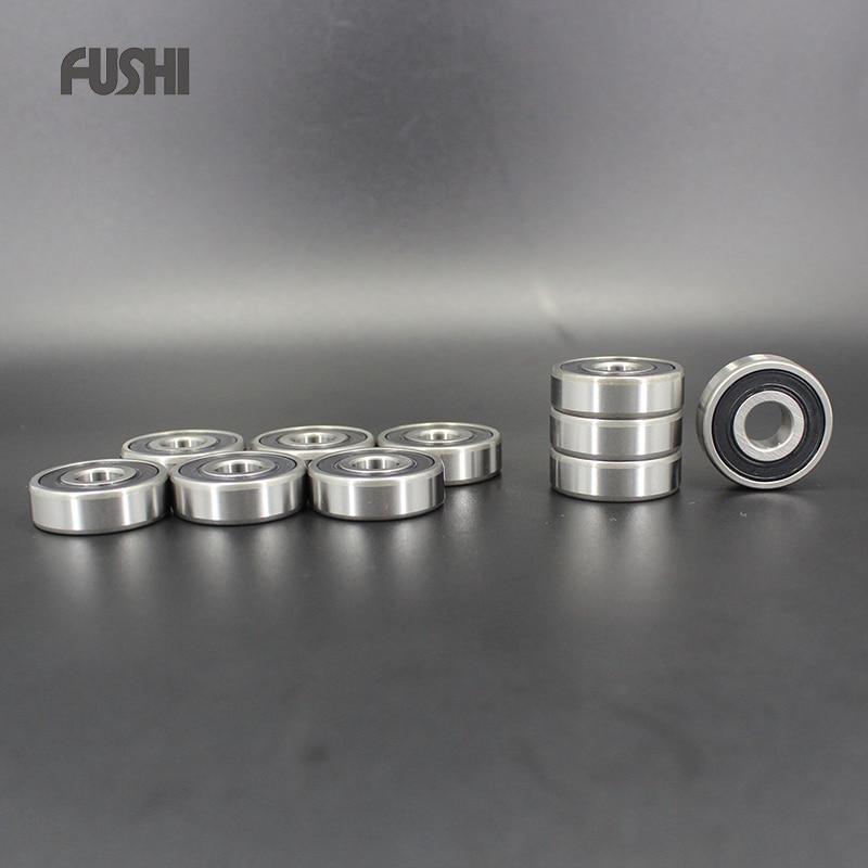 698-2RS Bearing ABEC-1 10PCS 8x19x6 mm Miniature 698RS Ball Bearings 619/8RS Z2V1  698 2RS 1pcs 71901 71901cd p4 7901 12x24x6 mochu thin walled miniature angular contact bearings speed spindle bearings cnc abec 7