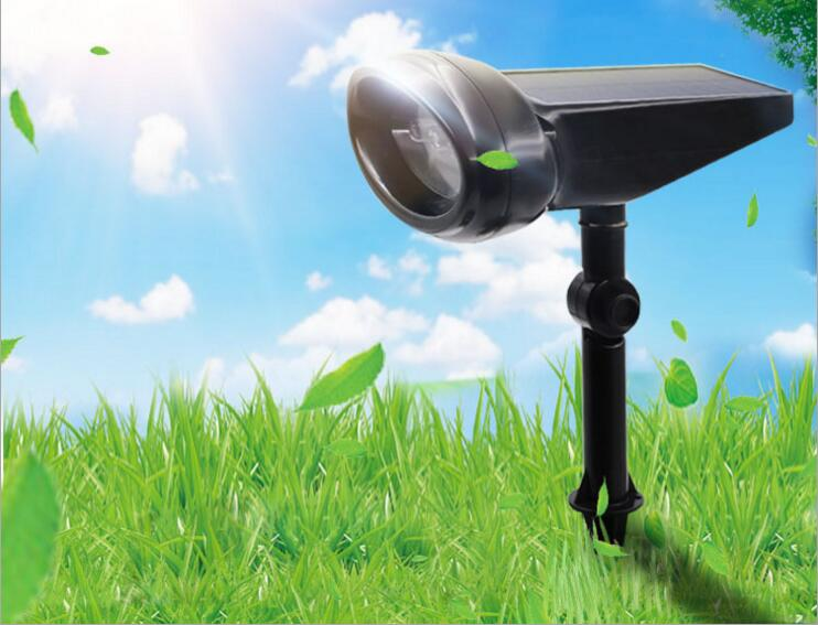 Solar 4LED Projection Light Spotlight Lamp Outdoor Lighting LED Solar Light Garden Lawn Lamp Landscape Wall Lights