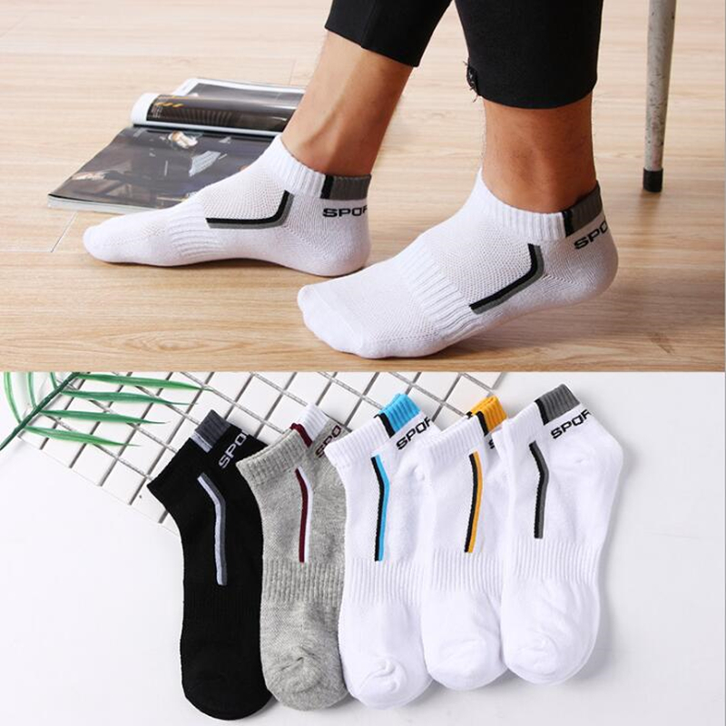 Fashion Men's Sport Socks Running Short Sock Outdoor Cycling Riding Basketball Breathable Sock Cotton Ankle Sock Sneakers