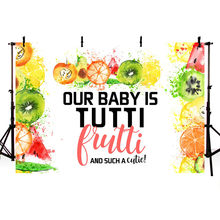 Fruit Backdrop Happy Birthday Theme Party Decoration Banner Pineapple Background for Photo Booth Studio Newborn Baby Birthday(China)