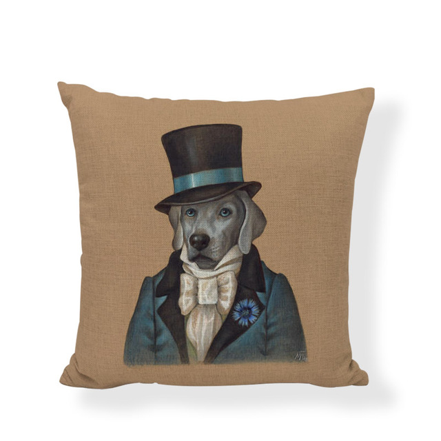 Shih Tzu-housse de coussin avec chat blanc   Coussin pour Portrait des chiens, décoration de la maison, taies doreiller, cadeau de vacances, design artistique