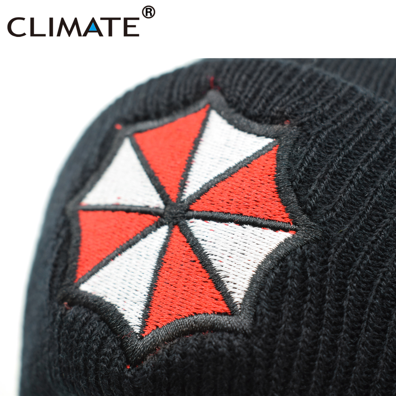 71ae31f032a DETAILS. CLIMATE Men Women Winter Warm Beanie Hat Resident Evil Umbrella  Corporation Soft
