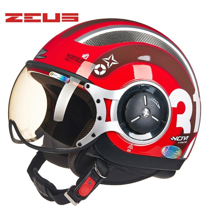 Вел напольный свет Зевс мотоцикл шлемы Мотокросс струи ретро 3/4 половина шлем DOT утвержденная capacete КАСКО мотоцикл шлем 218C