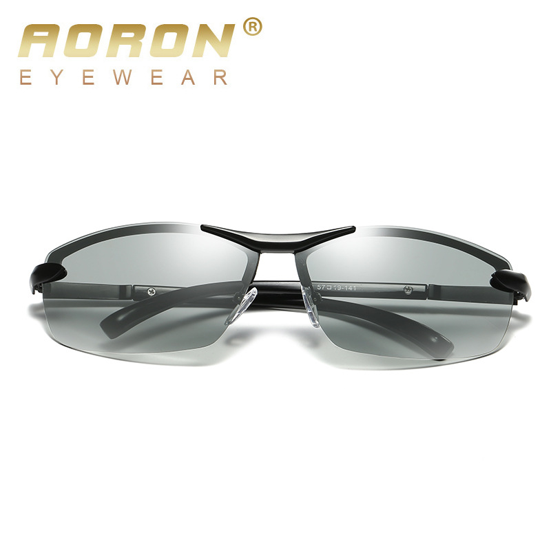 2de529bcc28574 Aoron Nieuwe Fotochrome Lense Gepolariseerde Zonnebril Voor Mannen Merk  2017 Hoge Kwaliteit Mannelijke Zonnebril Rijden Bril Met Case in Aoron  Nieuwe ...