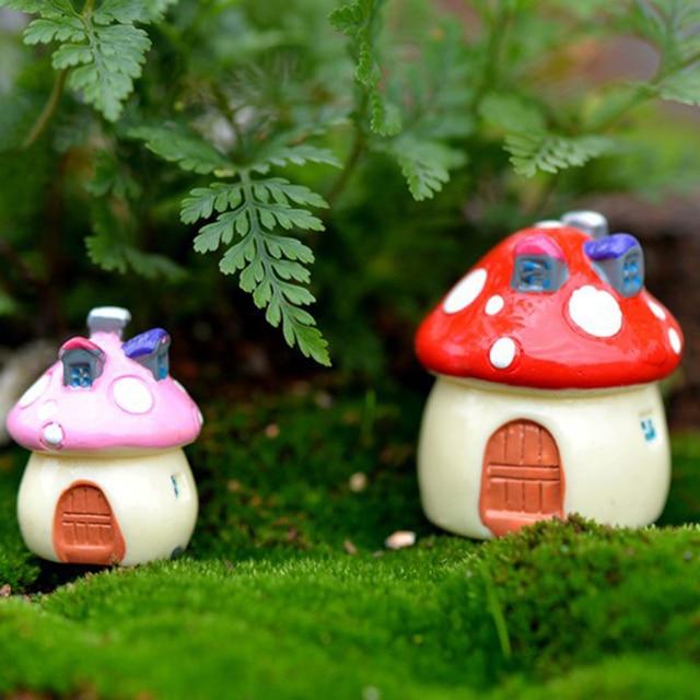 1 Pièce Champignon Maison Nouvelle Figurine Artisanat Pot Fée Jardin ...