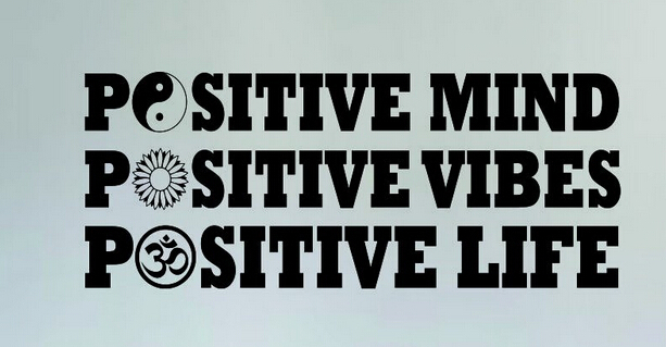 Yoga Vinyl Wall Decal Positive Mind Vibes Life Yin Yang ...
