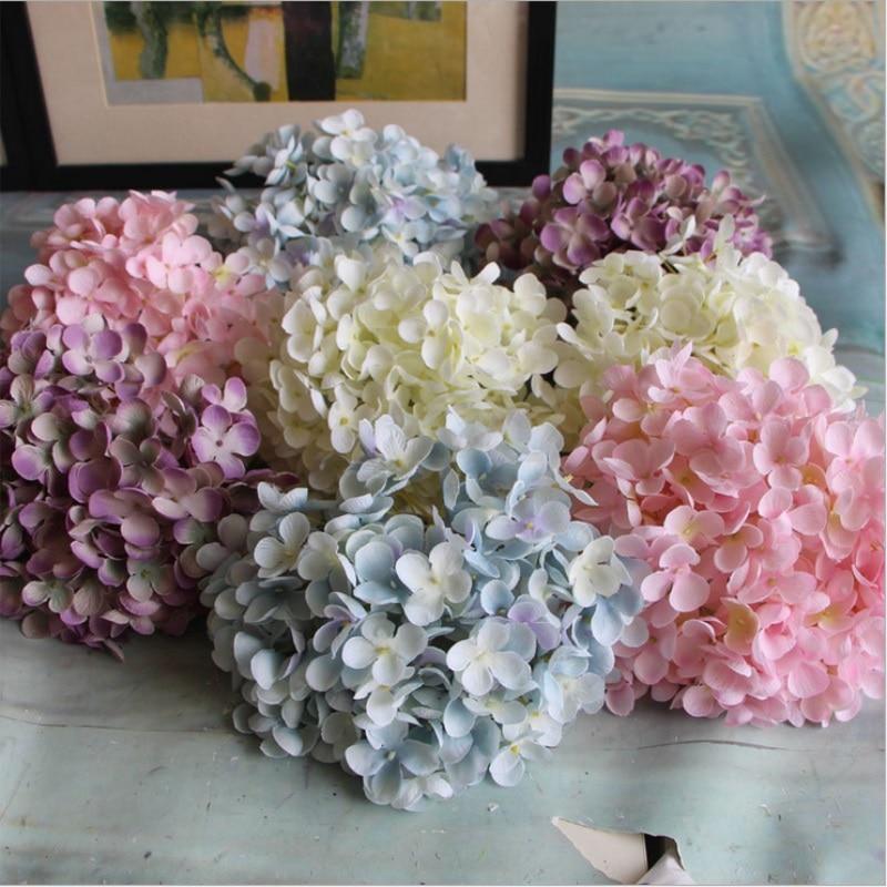 ptalosbola de la flor hortensia flor artificial barato diy accesorios para el hogar decoracin de la boda hortensias seda