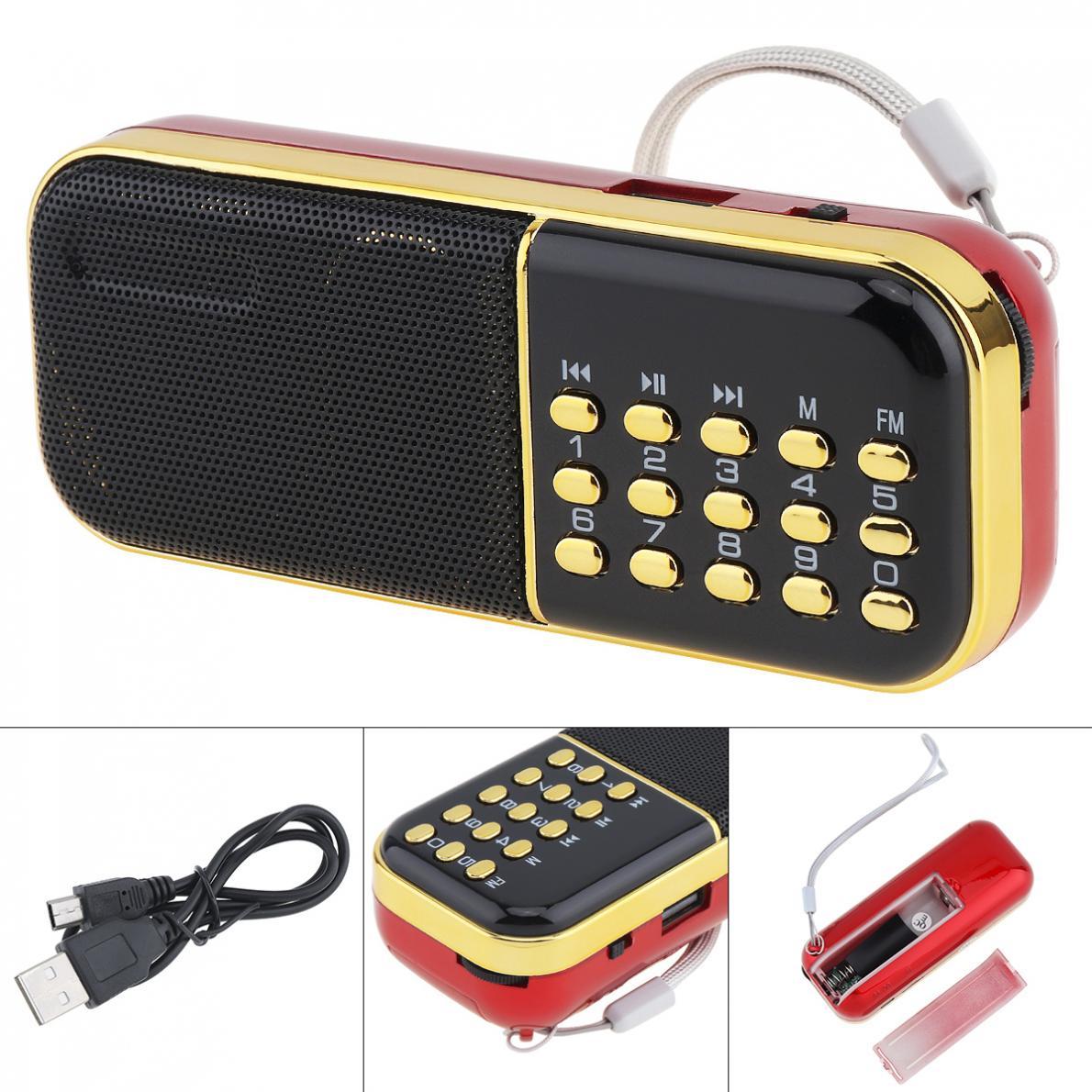 E28 Tragbare Radio Mini Audio Karte Lautsprecher Fm Radio Mit 3,5mm Kopfhörer Jack Für Hause Im Freien Tragbares Audio & Video