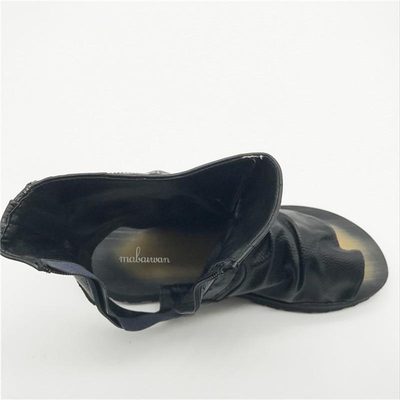 Preto Sapatos Mens Gladiador Lateral Zíper Mabaiwan Sandálias Rebites Verão Homens Casual Calçado Praia Mans Preto Moda Flops branco Flats Flip fwfqv6gnxO