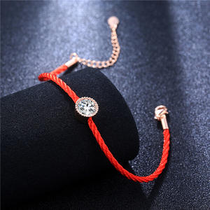 2018 Fashion Crystals Charm Bracelets Thin Red Thread String Rope Bracelets For Women Jewelry Gift Hot