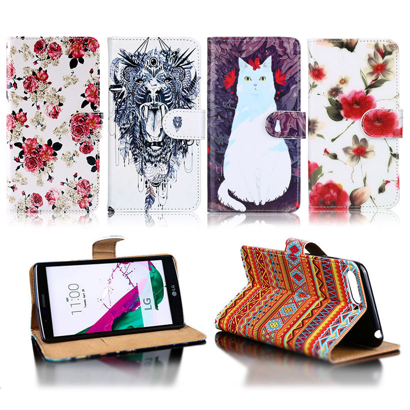 Luxury Flip Leather Case For Lenovo K5 2018 Wallet Case DIY Painted PU Cover For Lenovo K5 K350t K 350t Covers Phone Shell in Wallet Cases from Cellphones Telecommunications
