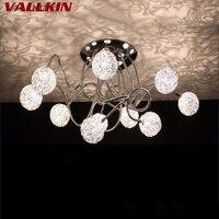 Современные светодиодный верхнего света в помещении потолочный светильник роскошная алюминиевый провод мяч светильники 10 Огни