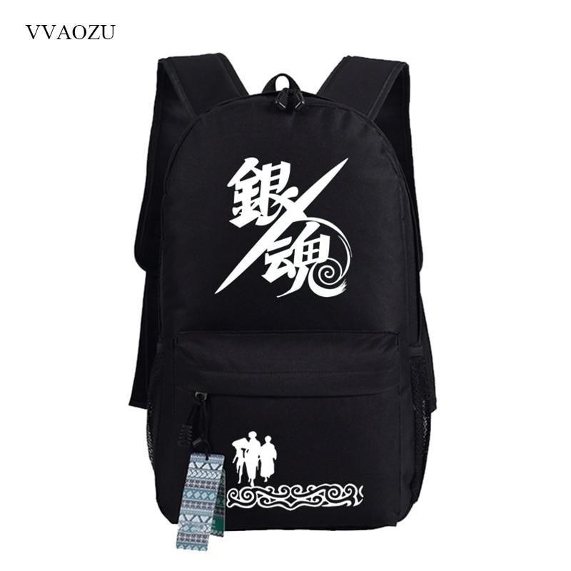 Students Kids Travel Laptop Men Backpack Cartoon Gintama College Backpacks School Rucksack Women Casual Big Shoulder Bags