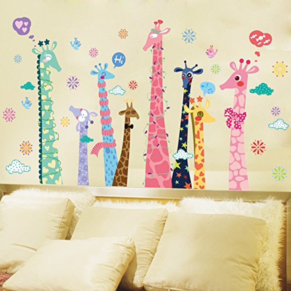 online get cheap wall talk decals aliexpress com alibaba group diy giraffes wall stickers singing talking say hi pvc removable wall decals nursery decorations china