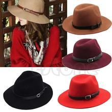 Модная дизайнерская женская теплая Зимняя шерстяная фетровая шляпа с широкими полями, ковбойская шляпа, Новинка