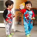 cute infant clothing kids cotton clothes fashion boys cartoon spider-man long sleeve rompers lovely kids clothing free shipping