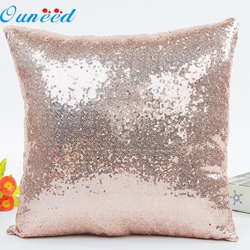 AP 7 Hot Selling Fast Shipping Solid Color Glitter Sequins Throw Pillow Case Cafe Home Decor Cushion Covers