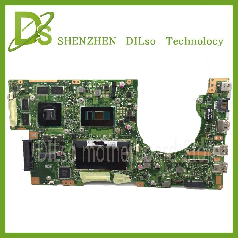KEFU K501U For ASUS K501UX K501UB laptop motherboard K501UX mainboard rev2.0 i5 cpu with Graphics card 100% tested ux21e laptop motherboard mainboard i5 2467m cpu 4g qs67 chipset usb3 0 with high quality 100