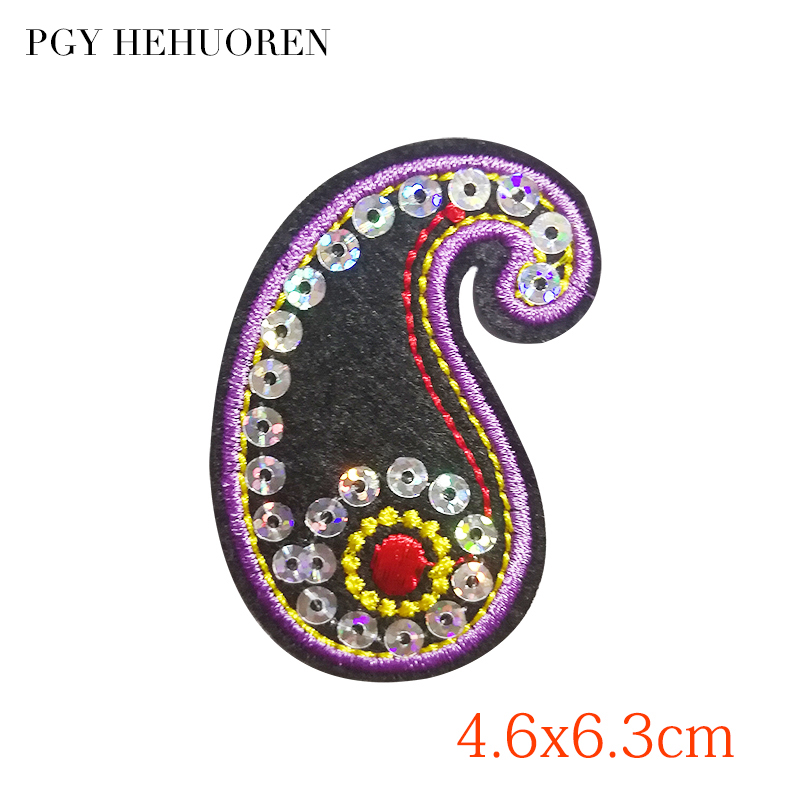 PGY Superman Patch for Clothing Exotic Eyes Sequins Appliques Iron On Patches  Diy Coat Bag T-shirt Garment Accessories Stickers 5bce4905f82c