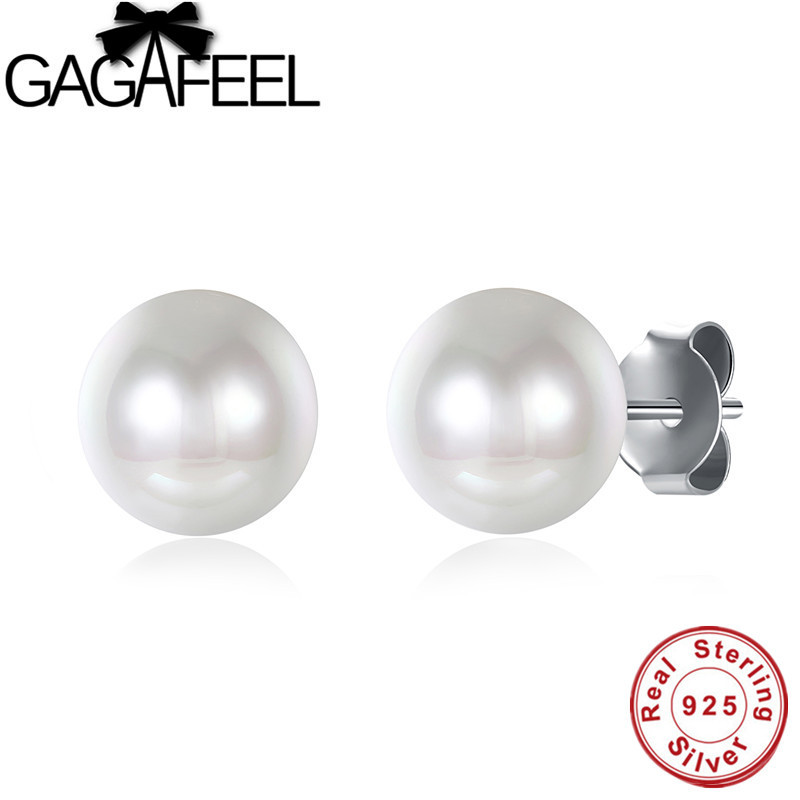 p pearl earrings silver sterling freshwater stud htm