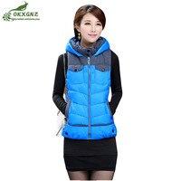 Plus size XL 5XL autumn and winter vest female 2019 new Parkas coat vest hooded women's Down cotton jacket warm waistcoat OKXGNZ