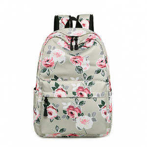 2929c137cdb0 Miyahouse Fashion Flower Design Backpack Female Nylon Bookbag For Student School  Bags Floral Travel Rucksack Girls Backpack