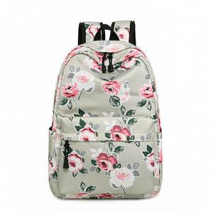 2929c137cdb0 Miyahouse Fashion Flower Design Backpack Female Nylon Bookbag For Student School  Bags Floral Travel Rucksack Girls Backpack