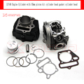 LiFan LF140 Engine Cylinder with 55mm piston kit cylinder head gasket for Kayo Apollo Bosuer Xmotos 140cc Dirt Pit Bikes