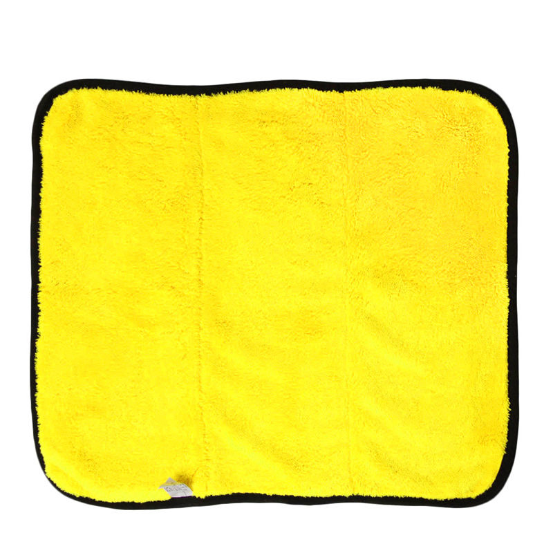 1PCS 45cmx38cm Super Thick Plush Microfiber Car Cleaning Cloths Car Care Microfibre Wax Polishing Detailing Towels Soft