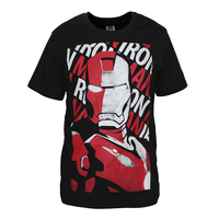 Iron Man Printed T Shirt Super Hero Captain America Iron Man T Shirt Boy Novelty