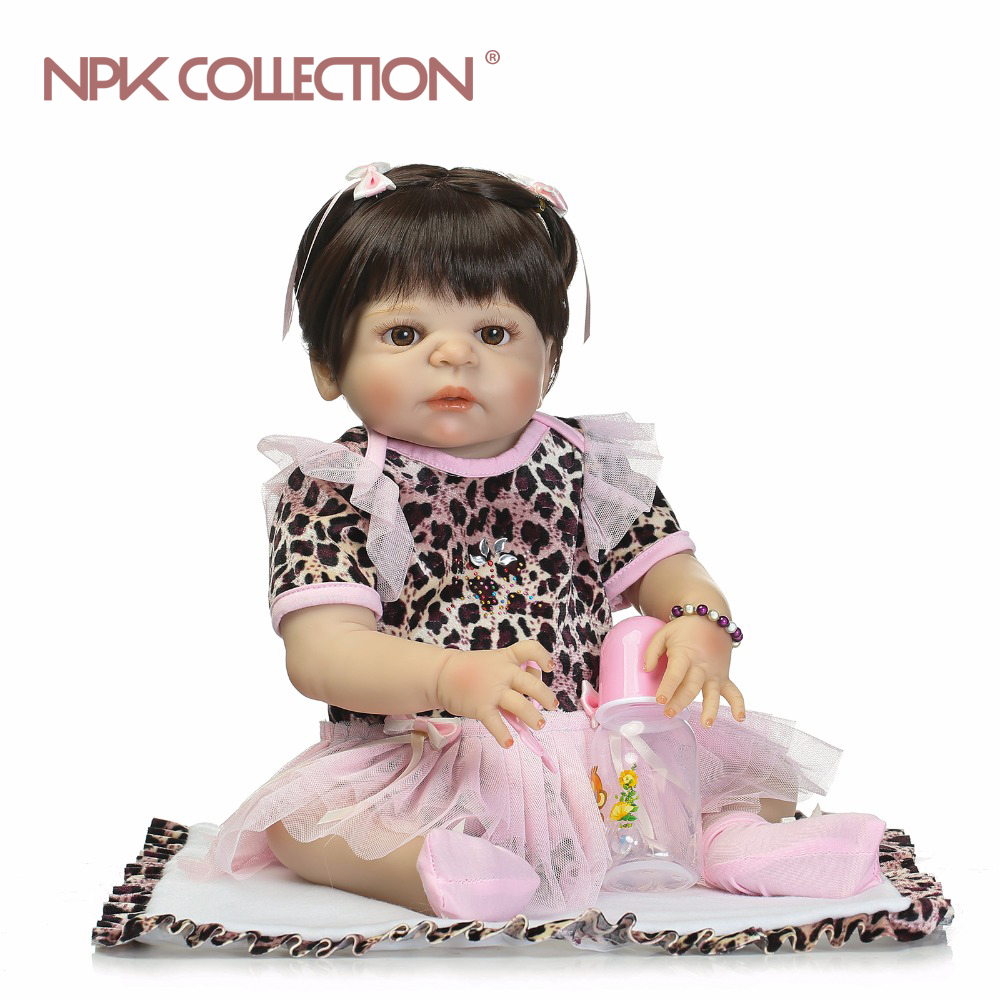 NPK full silicone vinyl body reborn baby girl dolls  soft silicone vinyl real gentle touch  bebe reborn new born real baby Gift new fashion design reborn toddler doll rooted hair soft silicone vinyl real gentle touch 28inches fashion gift for birthday