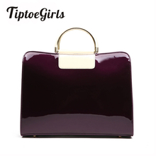 Patent Leather Women Handbag European Popular Women Bags 2018 New Fashion Handbags Simple Ladies Shoulder Messenger Bag Top Sale