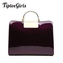 Patent Leather Women Handbag European Popular Women